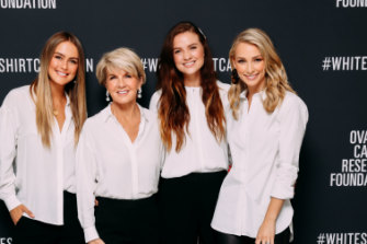 White Shirt Ambassadors Steph Claire Smith, Hon Julie Bishop MP, Laura Henshaw, Anna Heinrich