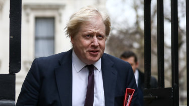 Boris Johnson, the British foreign secretary.