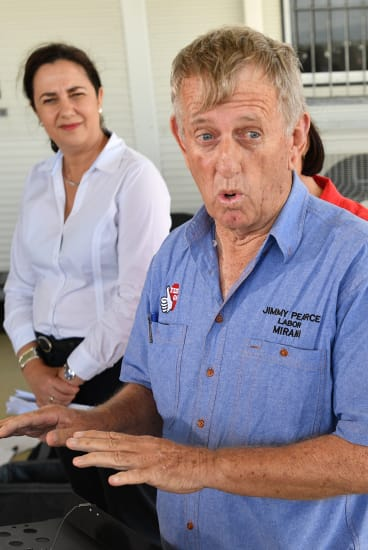 Ms Palaszczuk with the member for Mirani, Jim Pearce.