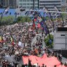 As it happened: Thousands march in Brisbane Invasion Day rally