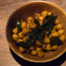 Spiced chickpeas with curried leaf are a favourite childhood snack of chef Scully.