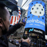 Coinbase surges in landmark Wall Street debut