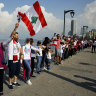 'Having one heart': Lebanese form human chain in protest