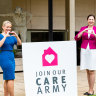 Kate Jones and Annastacia Palaszczuk at launch of the Care Army