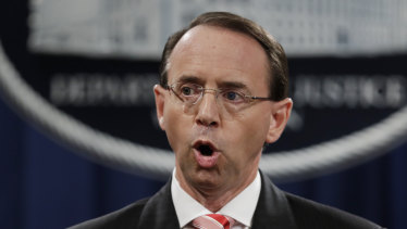 Former attorney-general Rod Rosenstein was under intense pressure.