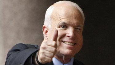 Arizona Republican Senator John McCain pictured in 2008.