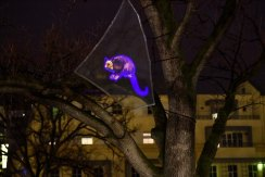 University Square is now home to this holographic possum, created by artist Mikala Dwyer.