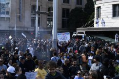 Thousands of people march through Sydney on Saturday.