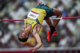 Brandon Starc cleared 2.28 metres in the high jump round.