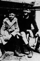 Jack and Teddy Talbot, who along with their father, had a narrow escape when a bridge collapsed.