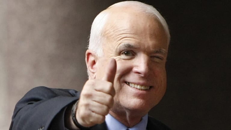 Arizona Republican Senator John McCain pictured in 2008.