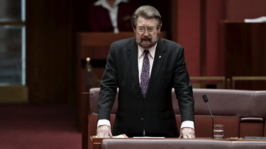 Senator Derryn Hinch is unconvinced by a letter written by business saying wage growth will follow company tax cuts.