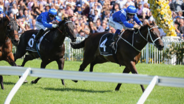 Class prevails: Winx takes the George Ryder Stakes with a final dash that wasn't matched all day.
