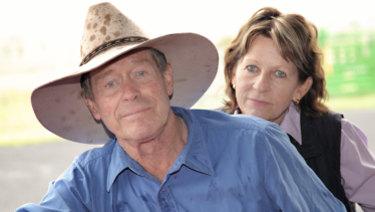 Farmers Frank and Lynn Ashman at their property near the Acland mine.