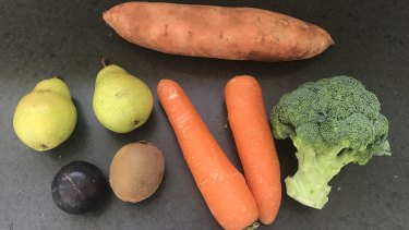 This is what $7 might get you for a fortnight's worth of fresh produce.