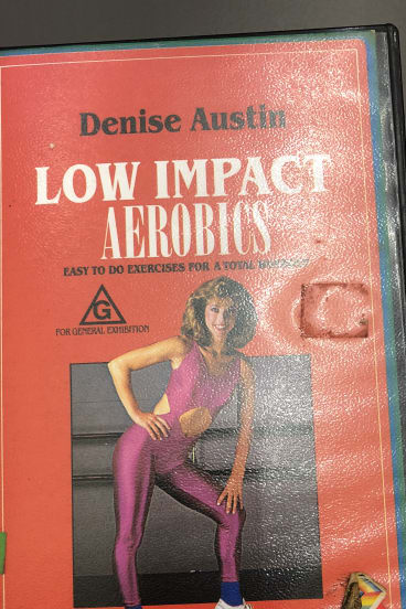 An aerobics VHS cassette was left behind on a council bus and is yet to be claimed.