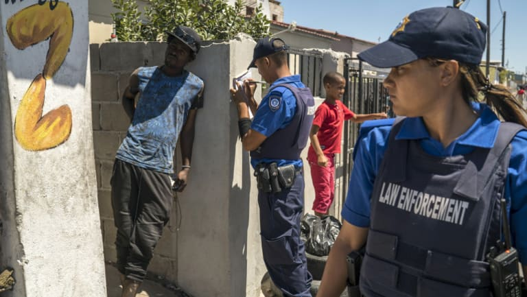 A roadside car wash operator is fined R3000 (approximately $300) for illegal use of water during a police operation in Delft, a township on the outskirts of Cape Town.