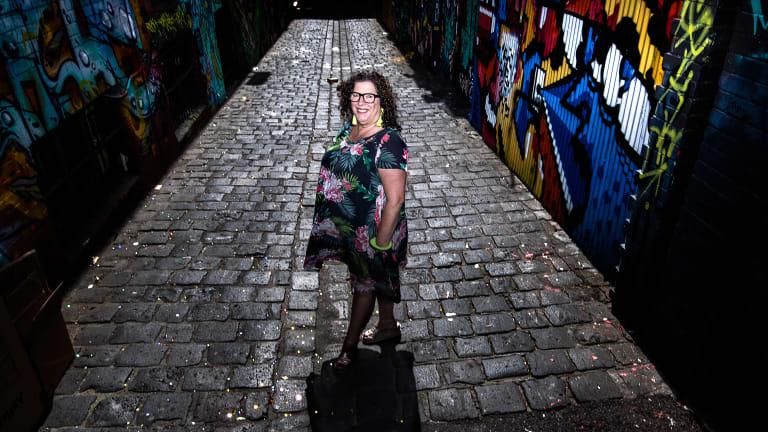A new kind of street artist: Liz Sonntag, aka Tinky, has found a niche installing tiny dioramas in city laneway walls.
