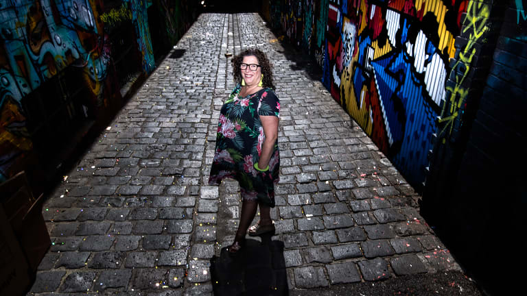 A new kind of street artist: Liz Sonntag, aka Tinky, has found a niche installing tiny dioramas in city laneway walls.