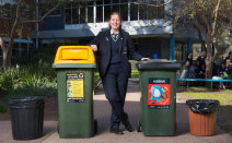 Bins out at Melbourne school as students told to take all rubbish home