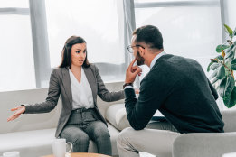 Among those women who have a preference for a therapist of a particular gender, 90 per cent would prefer to see a man.