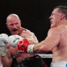 Code Wars: Hall fights Gallen as former footy stars go head-to-head