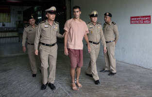 In Thai custody in early February.