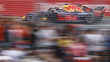 Ricciardo during qualifying.