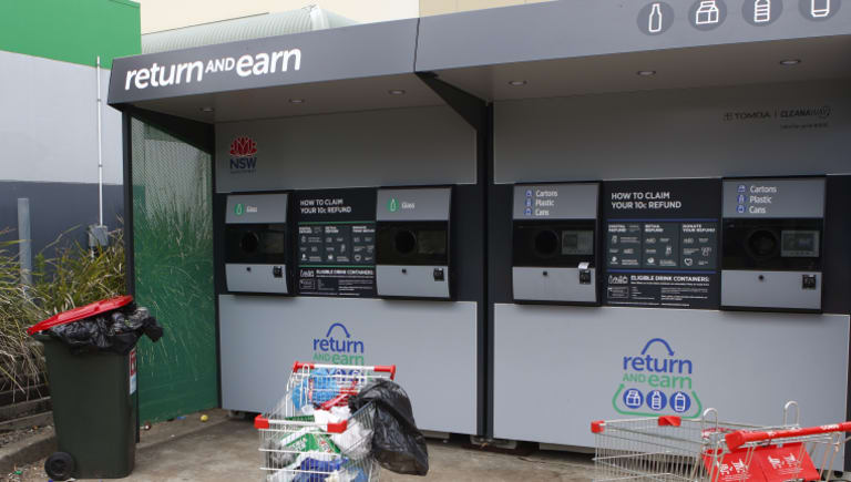 The Blacktown Return and Earn station.