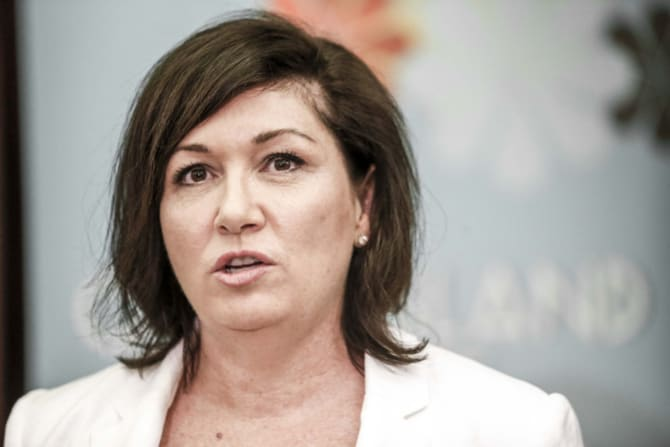 Cabinet consideration: Queensland Minister Leeanne Enoch declines to answer questions about the trade.