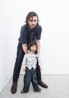 Artist Simon Zoric with ... Simon.