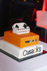 The birthday cake for Cusacks' centenary celebrations at the National Arboretum