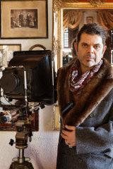 Tony Notarberardino is ready to shoot in the foyer every day.