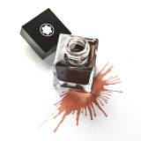 Montblanc Elixir Parfumeur ink in orange brown (leather scent), $110 for 50ml.