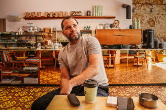 Omar Jheir was seriously injured when the port explosion destroyed his cafe.