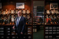 Second-generation shoemaker and McCloud Shoes owner, Peter Parkinson.