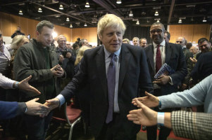 British Prime Minister Boris Johnson after launching the Conservative Party's election manifesto in Telford on Sunday.