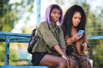 I May Destroy You creator Michaela Coel (left) wanted the show's 12 episodes to be viewed weekly rather than in one go.
