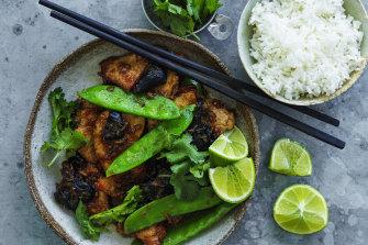 Thai-style pork stir-fry.