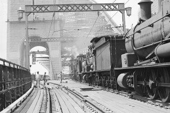 The wooden rail deck on the Sydney Harbour Bridge dates to the 1930s.