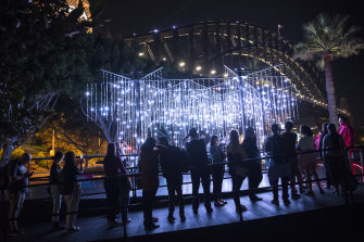 The opening night of Vivid festival in 2019.