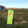 Plunge in land lot sales, but prices hold firm