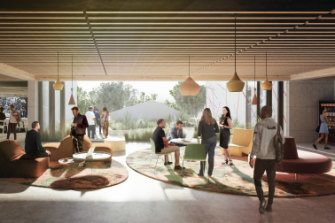 An artist's impression of what the first indigenous residential college, announced by UTS, might look like.