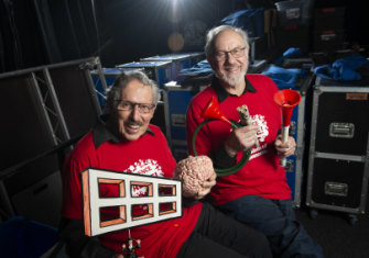 Recognise these guys? It's Deane Hutton, left, and Rob Morrison, whose  Curiosity Show is enjoying a renaissance on YouTube.