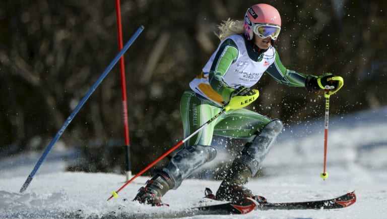 Jessica Gallagher won a medal for Australia at the 2014 Sochi Games.