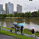 People walking in Melbourne on Saturday.
