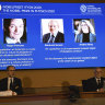 Three scientists share Nobel physics prize for cosmology findings