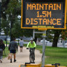 Locked-down Victorians face fines for exercising too far from home