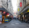 Famous laneway businesses take hit from Flinders Street closure