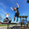 'Bored out of my mind': Children and parents rejoice at playgrounds reopening